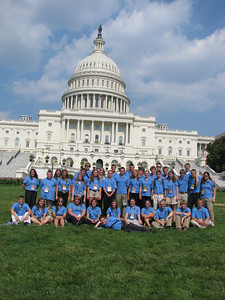 Minnesota Youth Tour in front of capital